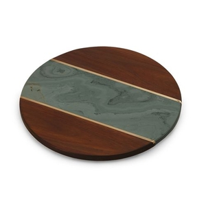 Green Campello Lazy Susan Marble Board-Green