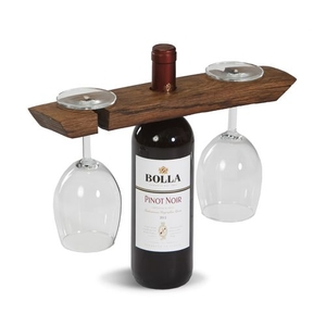 Walnut USA Wine Glass Caddy-Walnut