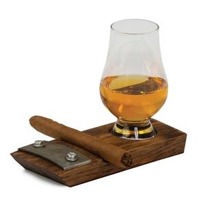 Whiskey barrel stave USA Glencairn Whiskey & Cigar Coaster