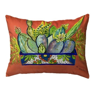 Cactus in Planter Small Noncorded Pillow 11x14