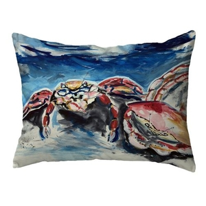 Two Red Crabs Small Noncorded Pillow 11x14