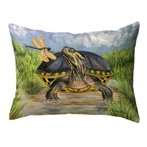 Dragonfly to Turtle Large Noncorded Pillow 16x20