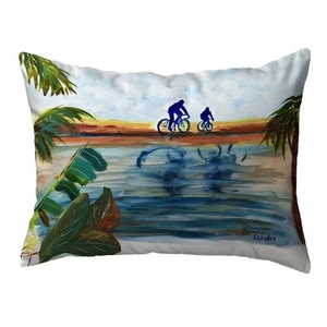 Two Bikers Large Noncorded Pillow 16x20