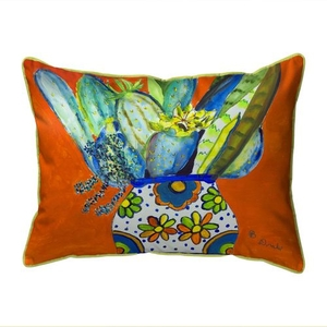 Potted Cactus Small Indoor/Outdoor Pillow 11x14