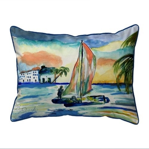 Catamarand Small Indoor/Outdoor Pillow 11x14