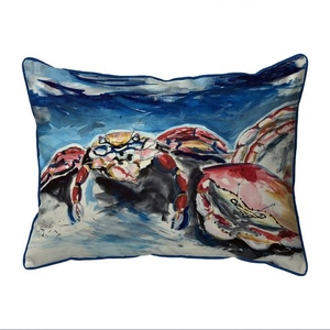 Two Red Crabs Small Indoor/Outdoor Pillow 11x14
