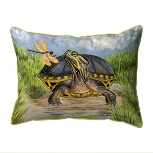 Dragonfly to Turtle Extra Large Zippered Indoor/Outdoor Pillow 20x24