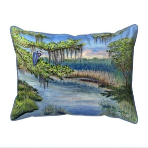 Marsh Morning Extra Large Zippered Indoor/Outdoor Pillow 20x24