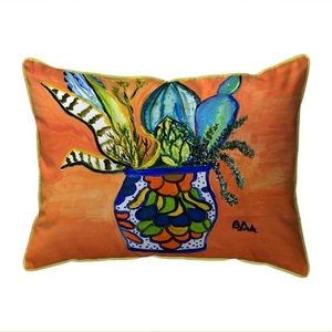 Cactus in Pot Extra Large Zippered Indoor/Outdoor Pillow 20x24