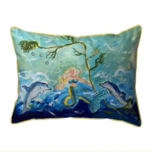 Queen of the Sea Extra Large Zippered Indoor/Outdoor Pillow 20x24