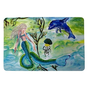 Mermaid and Jellyfish Small Door Mat
