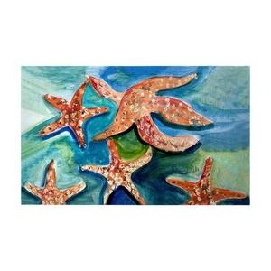 Swimming Starfish Large Door Mat