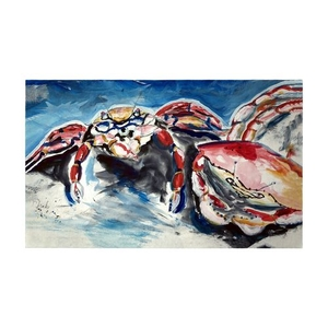 Two Red Crabs Large Door Mat