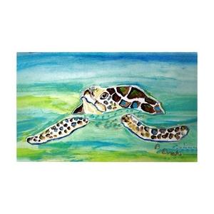 Sea Turtle Surfacing Large Door Mat