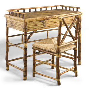 Coastal Bamboo Petite Desk and Chair Set