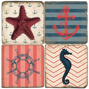 Nautical Coasters Set Of 4