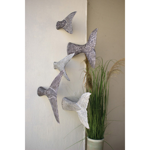 Set Of Five Fish Tail Wall Sculptures