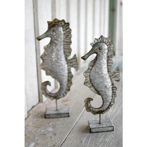 Galvanized Metal Seahorses (Set Of 2)