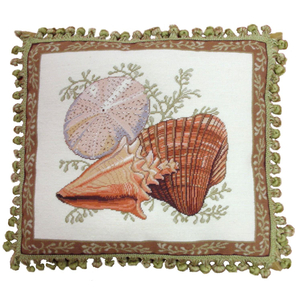 Shell II Petit Point Pillow