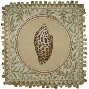 Conus Shell Needlepoint Pillow