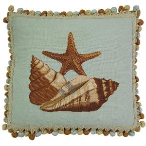 Starfish Needlepoint Pillow