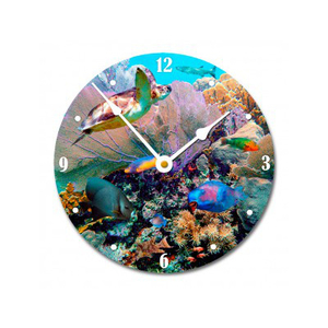 Fans And Fishes Wall Clock