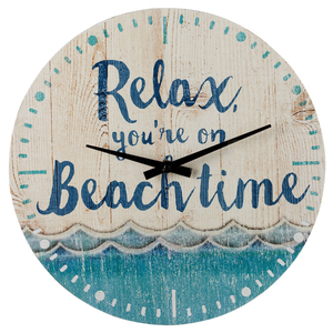 Relax You're on Beach Time Wall Clock