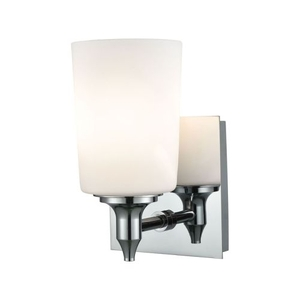Alton Road 1 Light Vanity In Chrome And Opal Glass