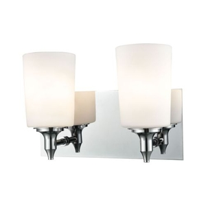 Alton Road 2 Light Vanity In Chrome And Opal Glass