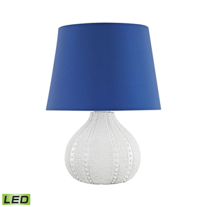 Aruba Outdoor Led Table Lamp With Royal Blue Shade