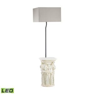Patras Outdoor Led Floor Lamp With Taupe Shade