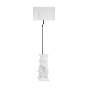 Wei Shi Outdoor Floor Lamp With White Shade
