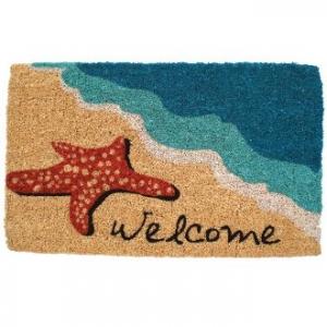 Starfish Welcome Coconut Fiber Doormat