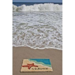 Starfish Welcome Handwoven Coconut Fiber Doormat